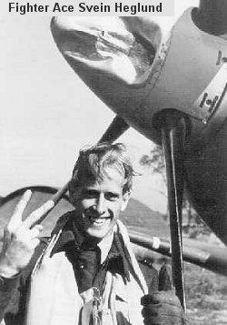 Svein Heglund etter luftkamp